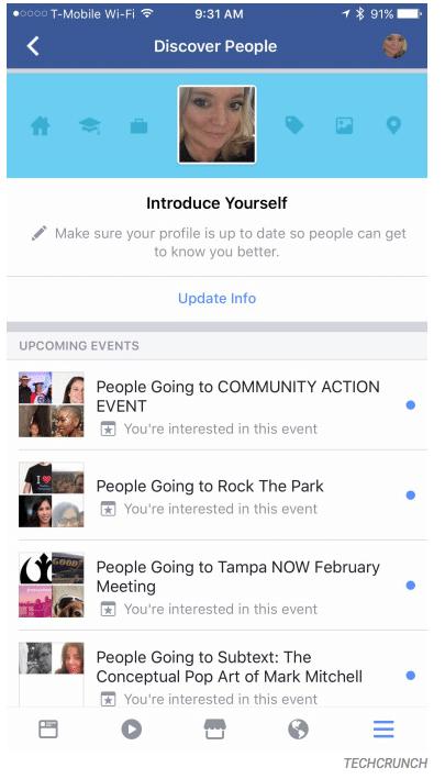 Discover people : la fonctionnalité de facebook