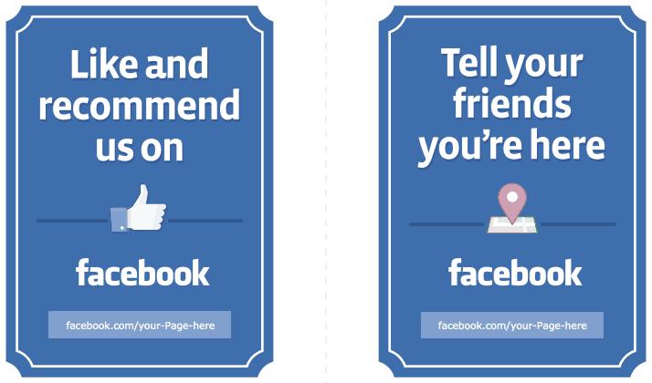 signalétique avis facebook