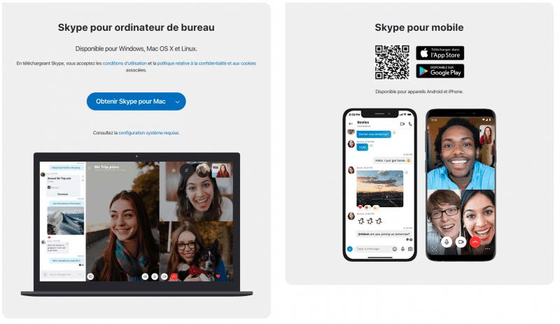 skype bureau et mobile